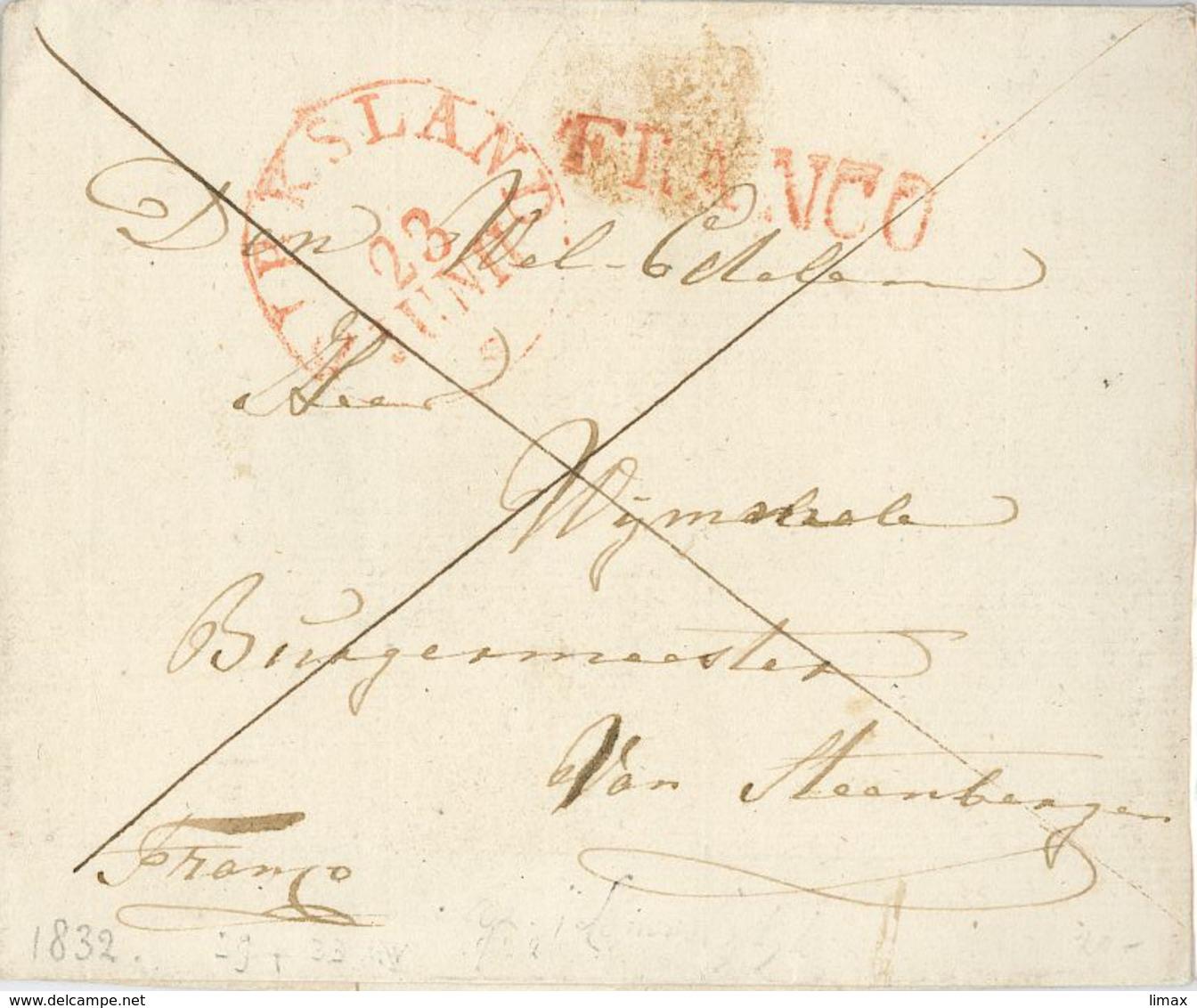 Vorphila Franco Tyksland Bürgermeester 1832 ? - Nederland