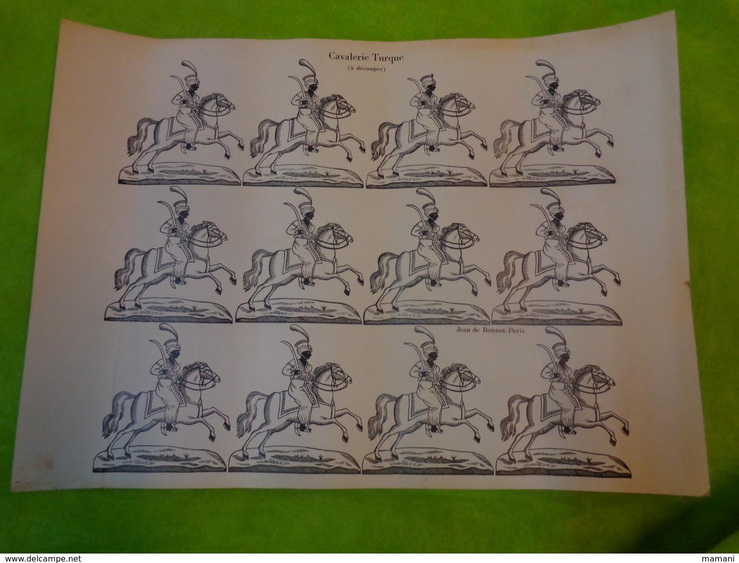 Affiche  Cavalerie Turque - Jean De Bonnot -images A Decouper - Posters