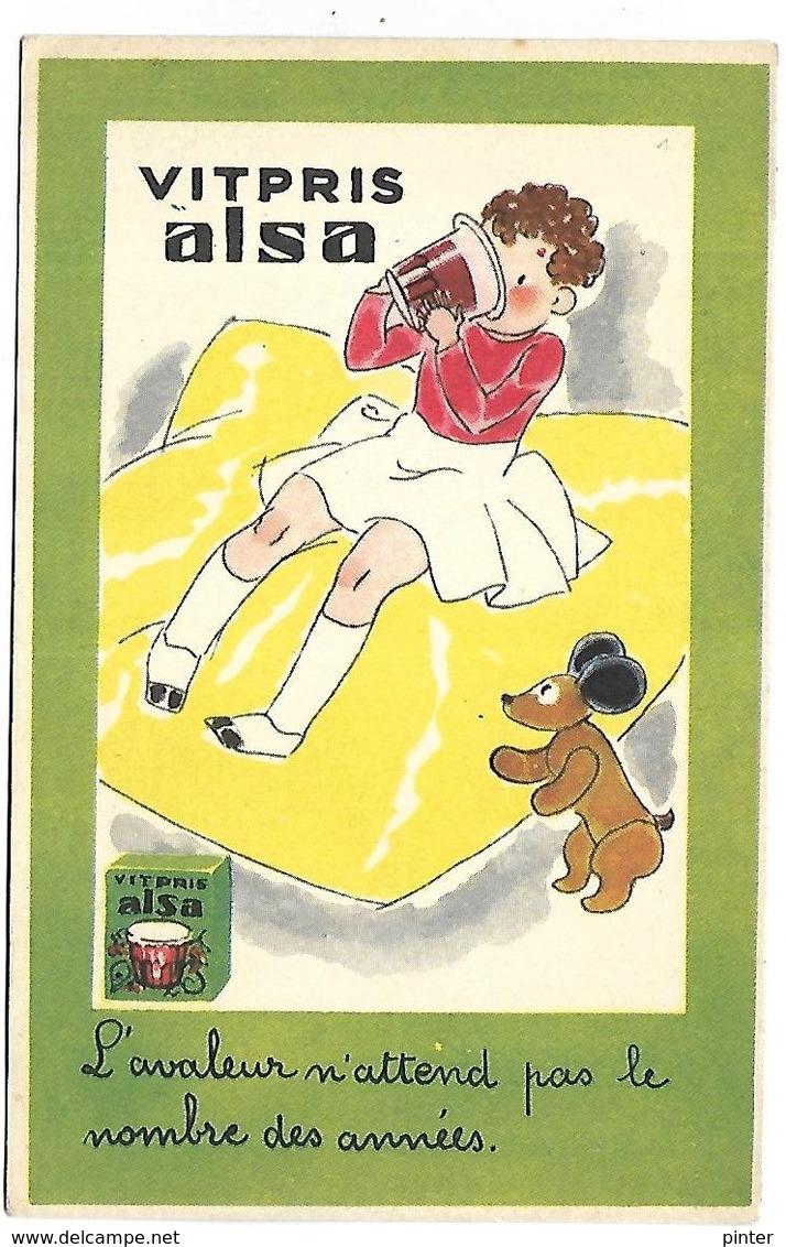 PUBLICITE - VITPRIS ALSA - Werbepostkarten