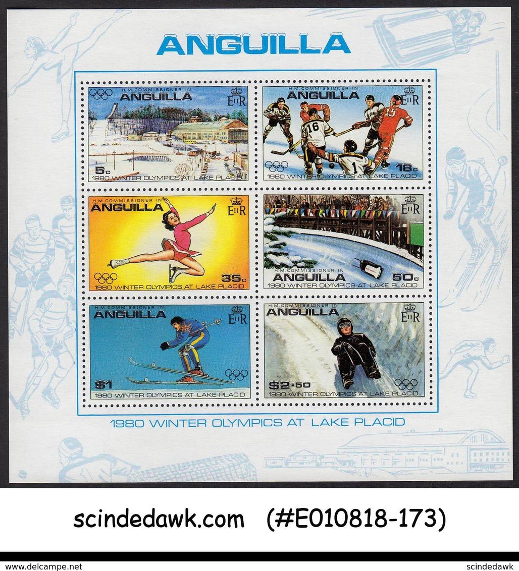 ANGUILLA - 1980 WINTER OLYMPICS MIN. SHEET MNH - Anguilla (1968-...)