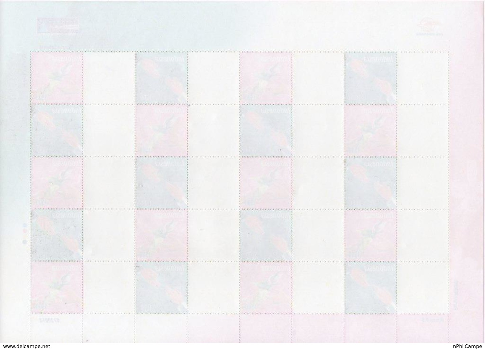 #4- Indonesia Personalized Stamp Sheet. PRISMA, Greeting 2007 Unused/blank  Rare - Indonesia