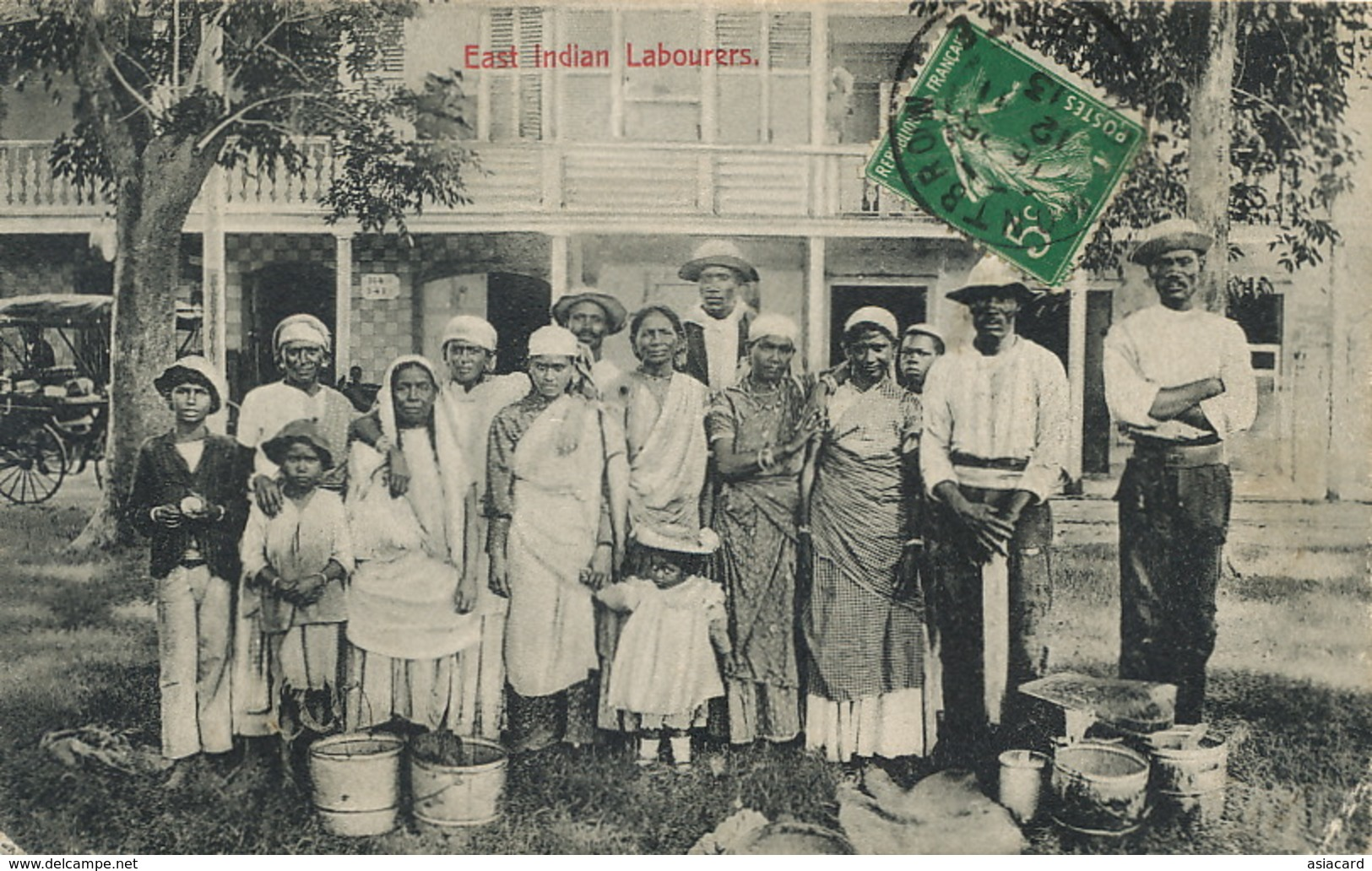 Trinidad East Indian Labourers Edit Waterman  Light Defect Bottom Right Corner - Trinidad