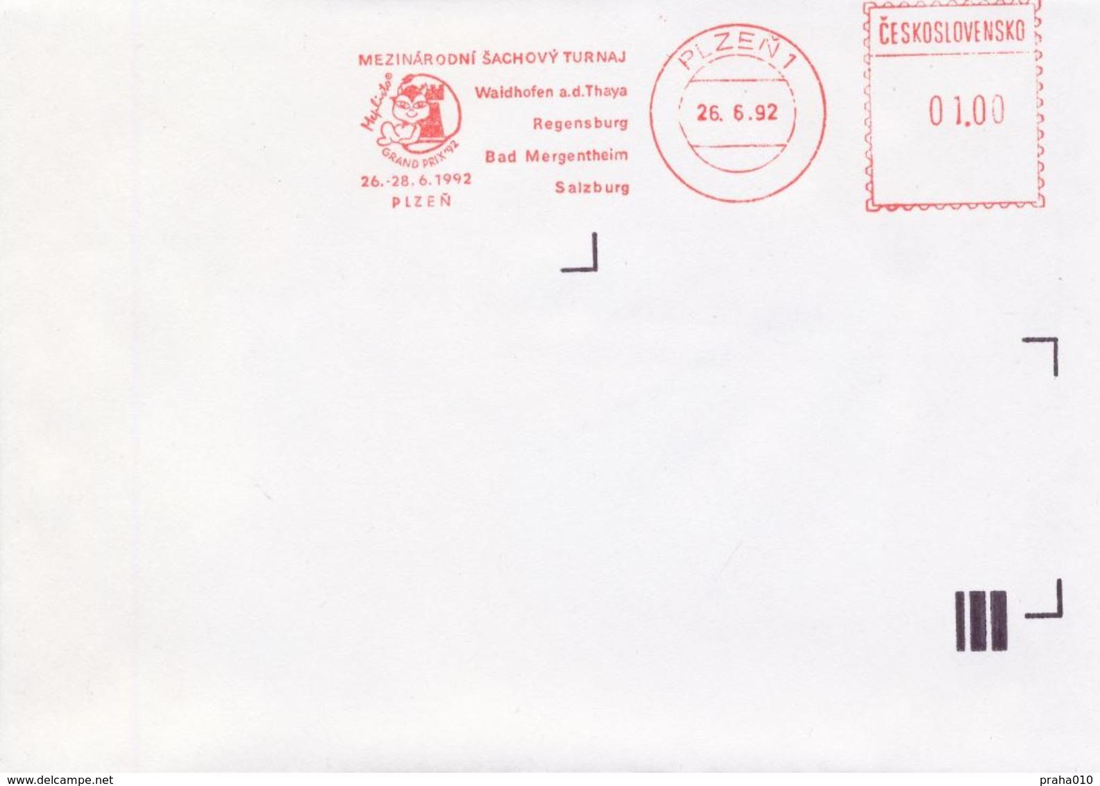 J0886 - Cecoslovacchia (1992) Plzen 1: Internationales Schachturnier Mephisto GRAND PRIX '92 - Scacchi
