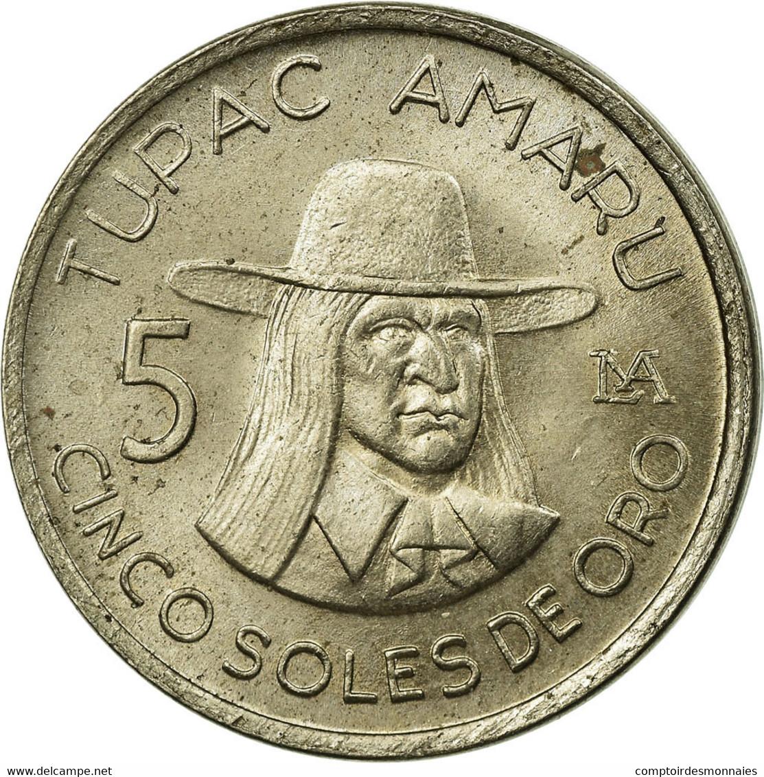 Monnaie, Pérou, 5 Soles, 1977, SUP, Copper-nickel, KM:267 - Pérou