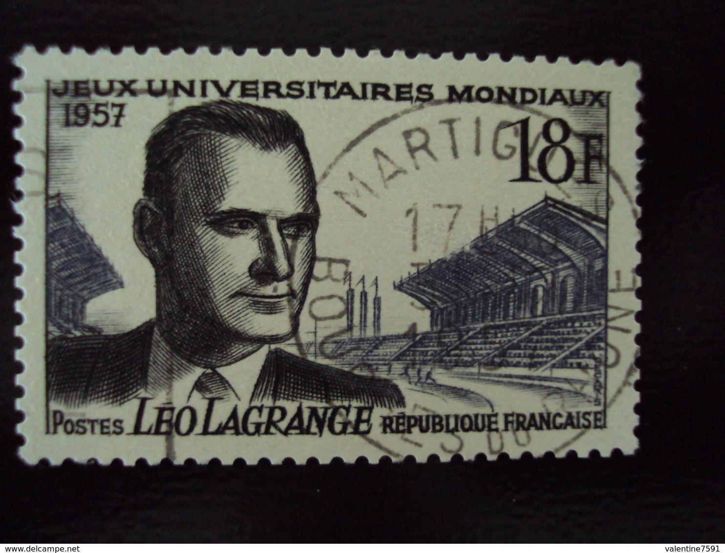 """à Partir De 1950  -timbre Oblitéré N°  1120   """"  Leo Lagrange    """"     0.65 Photo 2 - Oblitérés"""