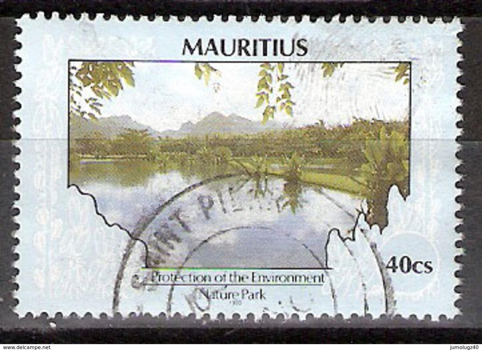 Timbre Maurice 1991 Y&T N°753 (16) Oblitéré. Nature Park 1993. 40Cs. Cote 0.30 € - Maurice (1968-...)