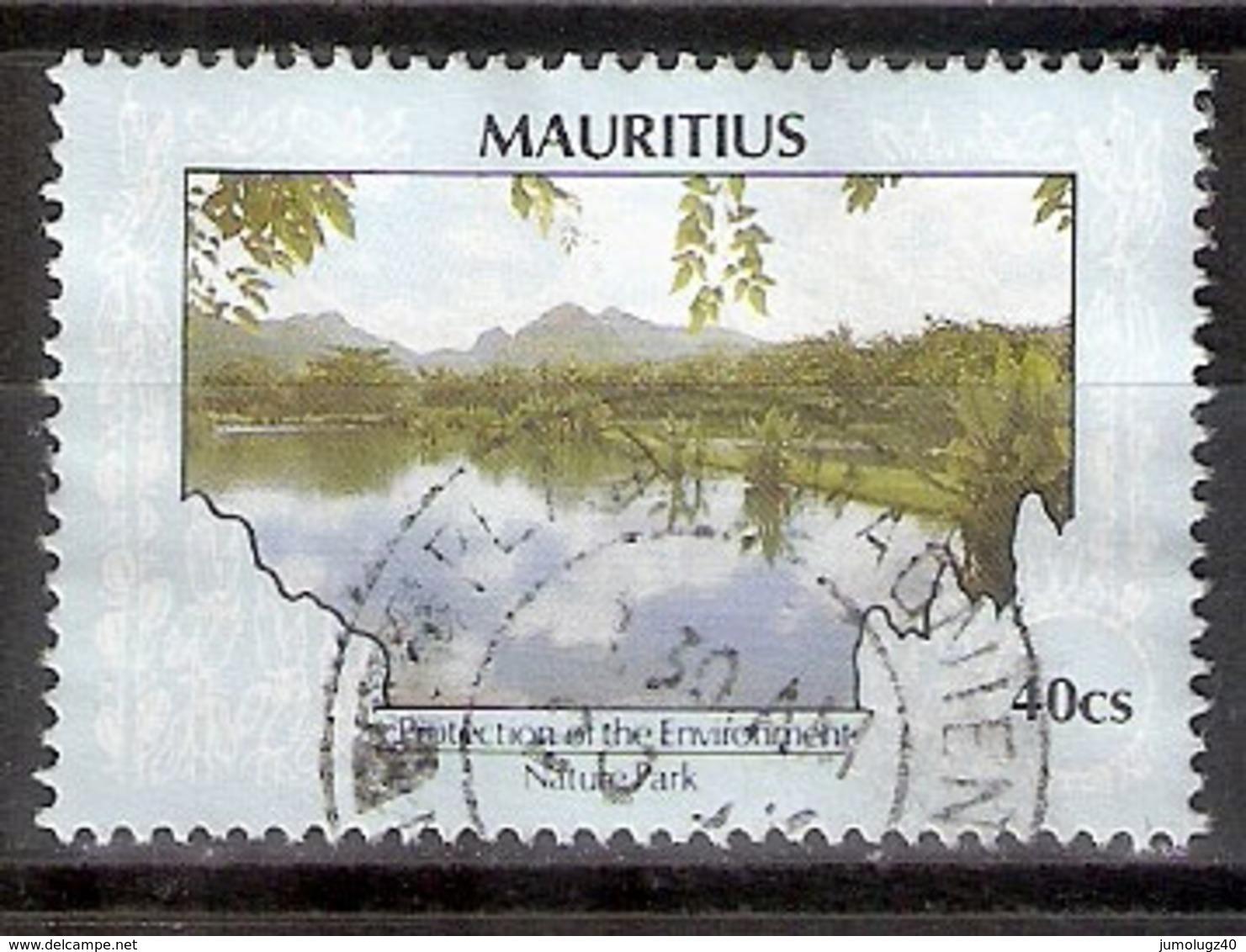 Timbre Maurice 1991 Y&T N°753 (17) Oblitéré. Nature Park 1993. 40Cs. Cote 0.30 € - Maurice (1968-...)