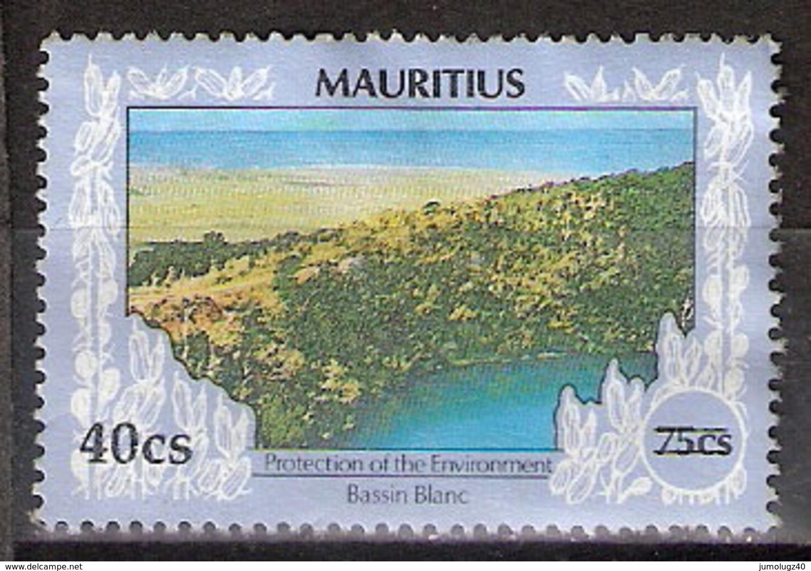Timbre Maurice 1991 Y&T N°761 ? (05) Oblitéré. Bassin Blanc. 40Cs Sur 75Cs. Cote ??? € - Maurice (1968-...)