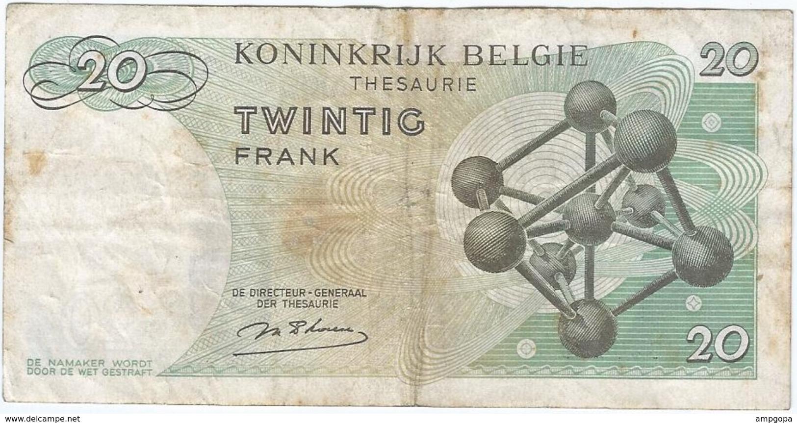 Bélgica - Belgium 20 Francs 15-6-1964 Pk 138  Ref 153-10 - Otros