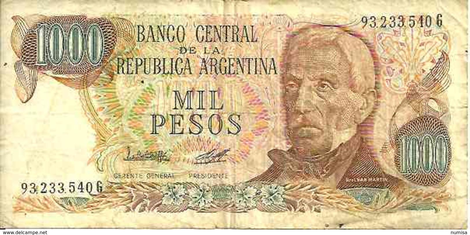 Argentine - Argentina 1000 PESOS (1976-83) Pick 304c TB - Argentine