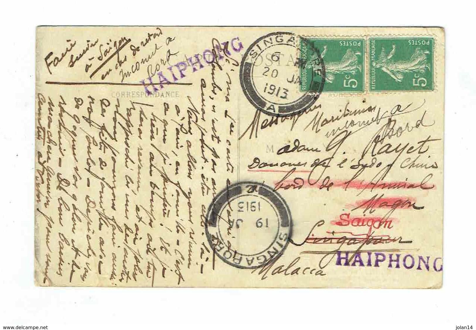 CPA 55 - Saint Mihiel - Carte Ayant Voyagé Du 21/10/1912 Au 20/01/1913 Singapore Saïgon Haiphong Malacca - Amiral Magon - Saint Mihiel