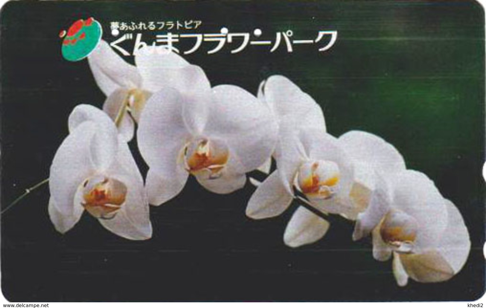 Télécarte ARGENT Japon / 110-011 - Fleur - ORCHIDEE - ORCHID Flower SILVER Phonecard - Blume - 2349 - Fleurs