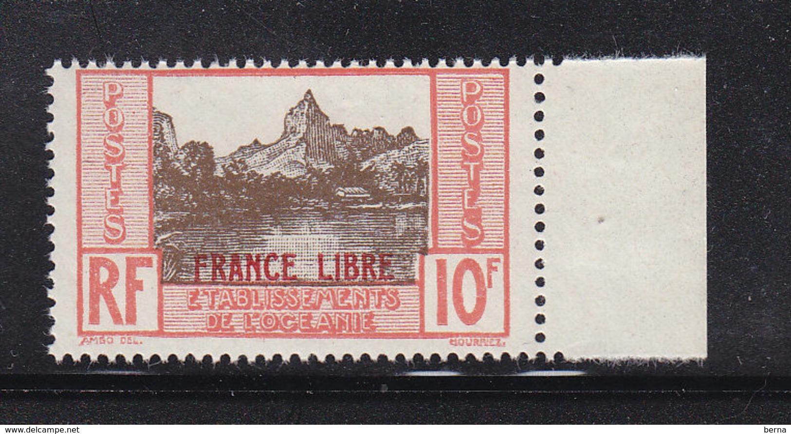 OCEANIE 142 FRANCE LIBRE LUXE NEUF SANS CHARNIERE - Oceania (1892-1958)