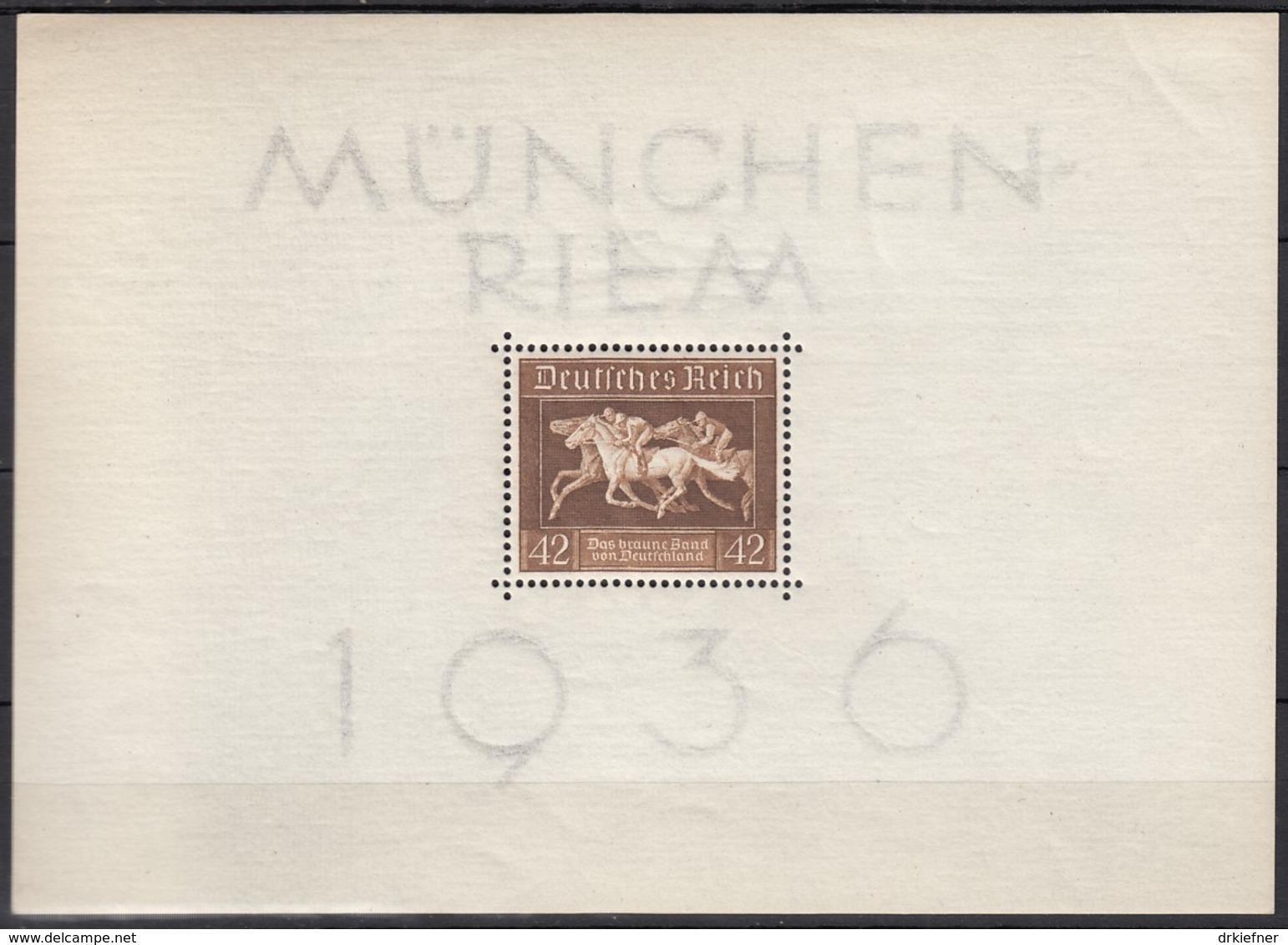DR  Block 4, Ungebraucht **, Das Braune Band 1936 - Blocks & Kleinbögen