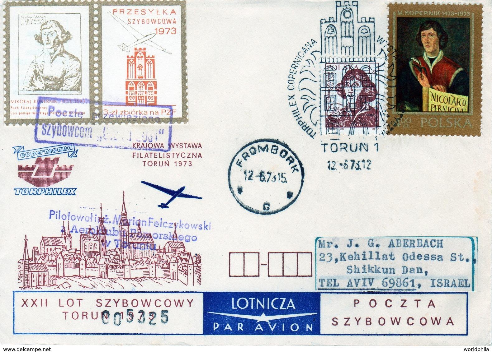 Poland-Israel 1973 Exhibition Cover Nicolaus Copernicus Matematichian & Astronomer I - Astronomy