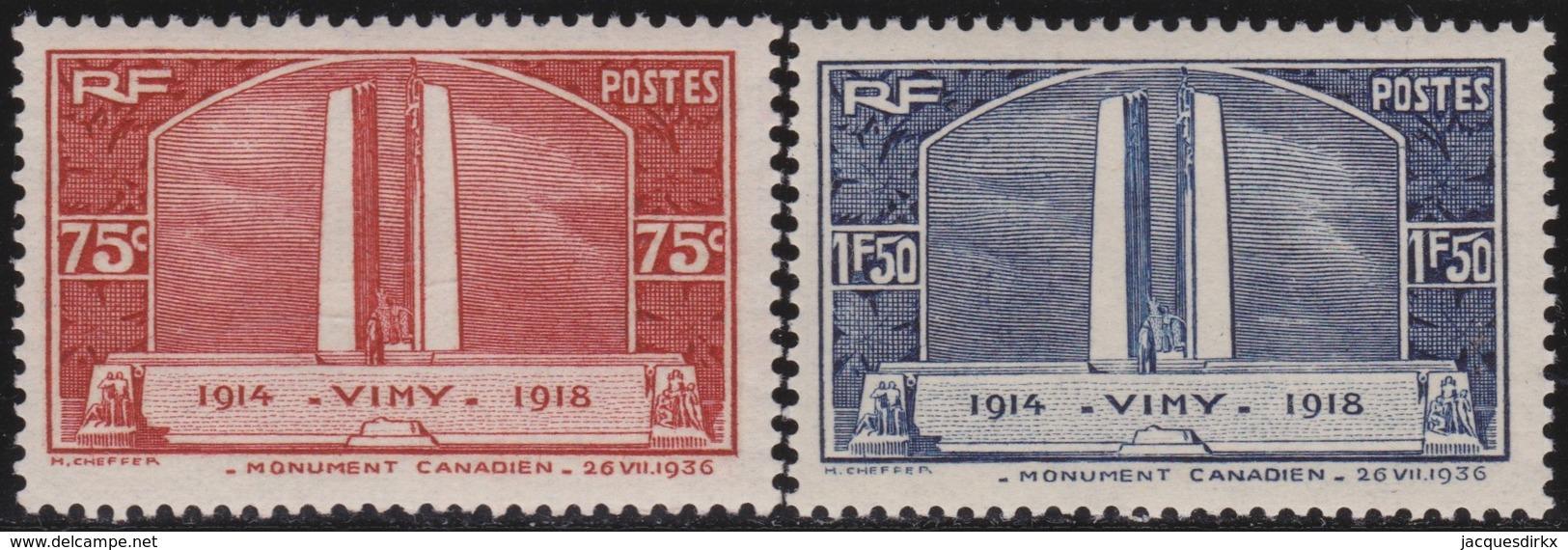 France  .   Yvert    .   316/317       .   **  .    Neuf  SANS  Charniere  .   /   .    MNH - France
