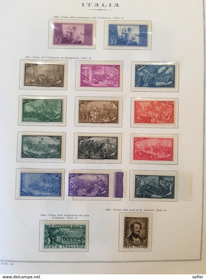 ITALIA REPUBBLICA - COLLEZIONE COMPLETA NUOVA DAL 1946 AL 2001 (LIRA) SU ALBUM - Lotti E Collezioni