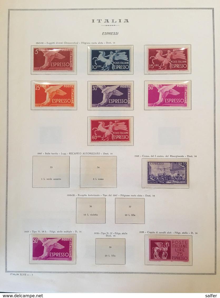 ITALIA REPUBBLICA - COLLEZIONE COMPLETA NUOVA DAL 1946 AL 2001 (LIRA) SU ALBUM - Italia