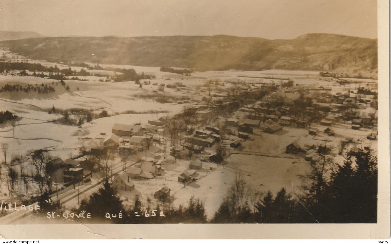 """Village"" St-Jovite  Quebec En Hiver Photo Veritable - Quebec"