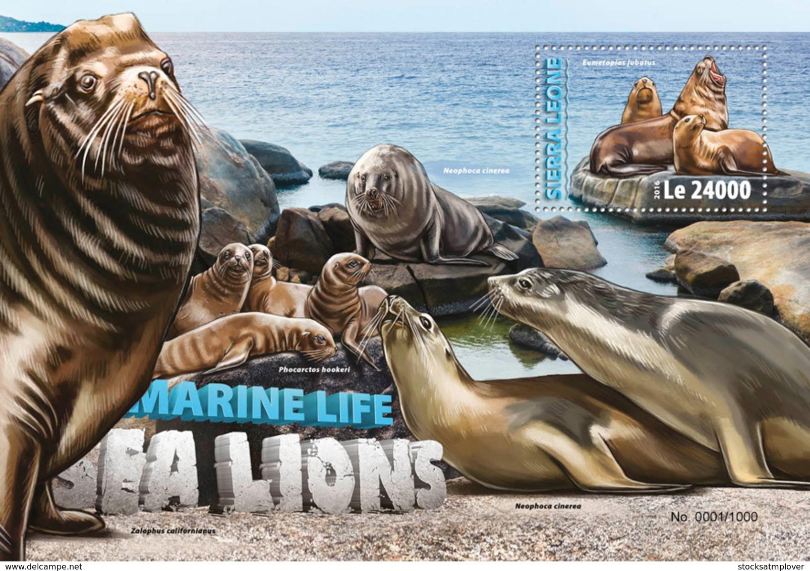 Sierra Leone 2016 Fauna  Sea Lions - Sierra Leone (1961-...)