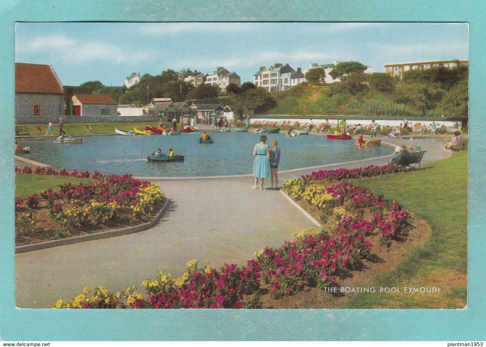 Old Small Post Card Of The Boating Pool,Exmouth,N66. - Other