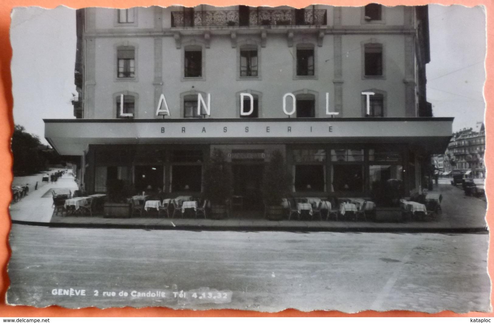 CARTE GENEVE - BRASSERIE LANDOLT - 2 RUE DE GANDOLLE - SCAN RECTO/VERSO -11 - GE Genève