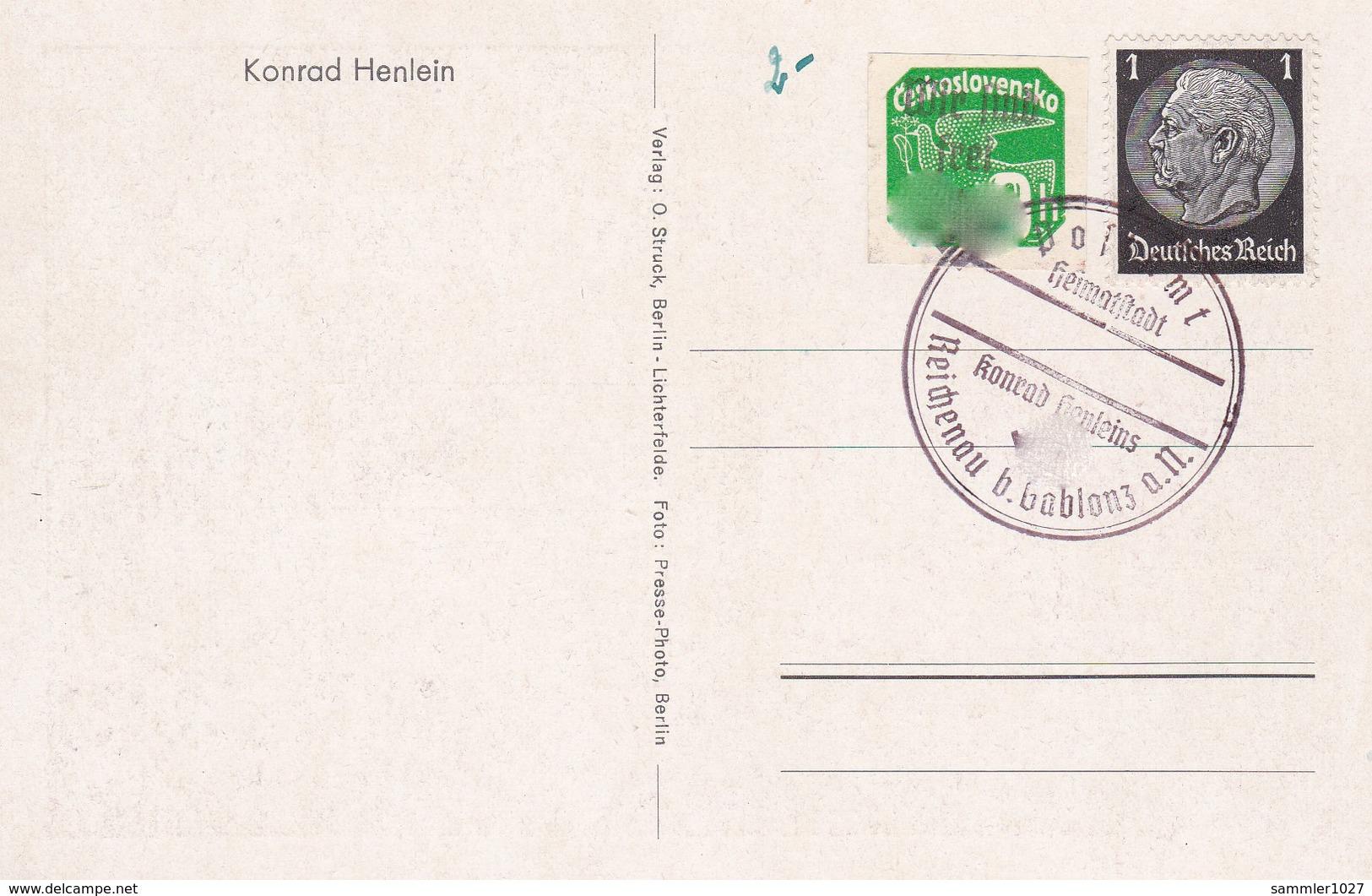 Böhmen Und Mähren Sammlerkarte Reichenau Sudeten 1938 - Bohemia & Moravia