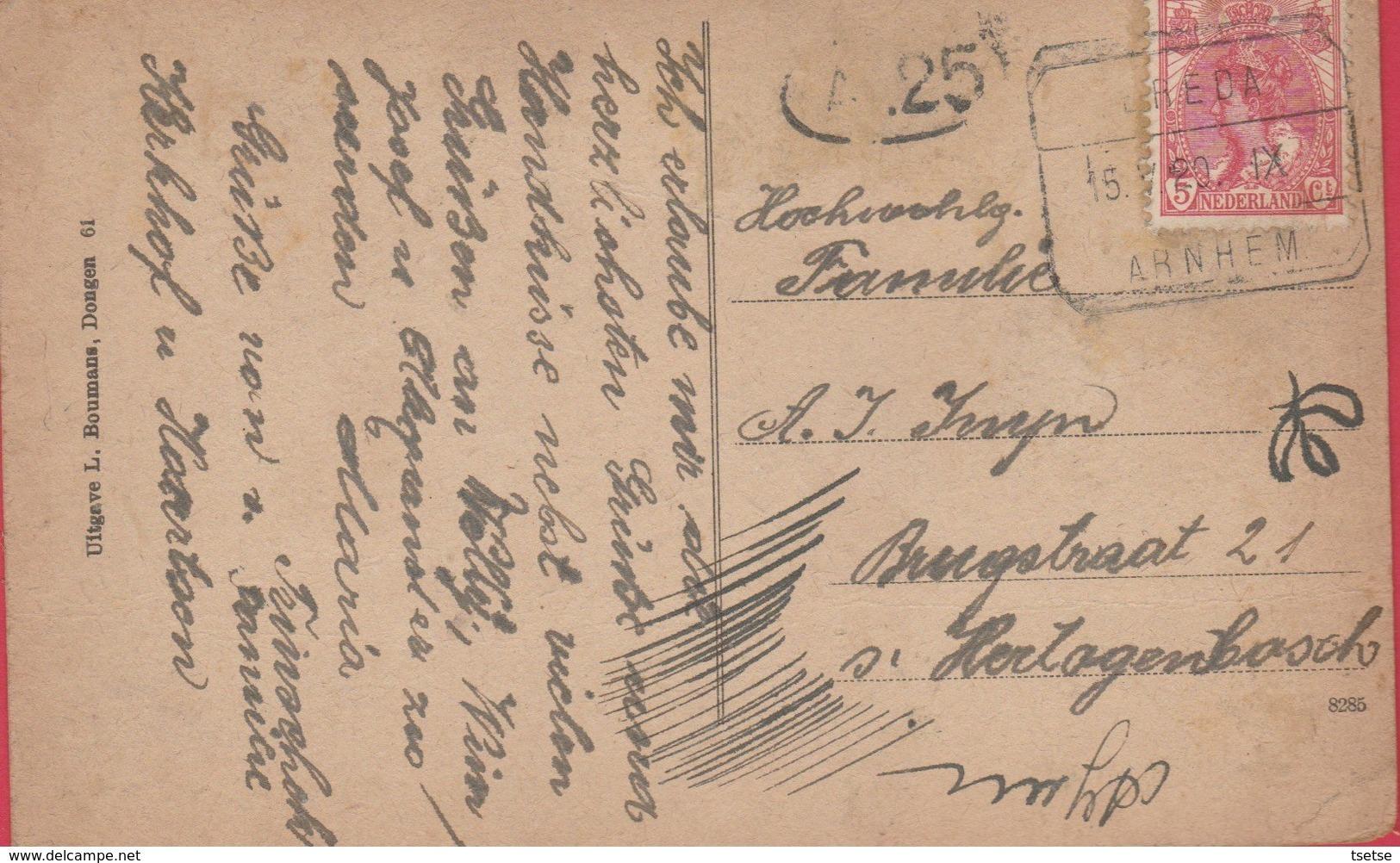 Dongen - Kerkstraat - 1920 ( Verso Zien ) - Nederland
