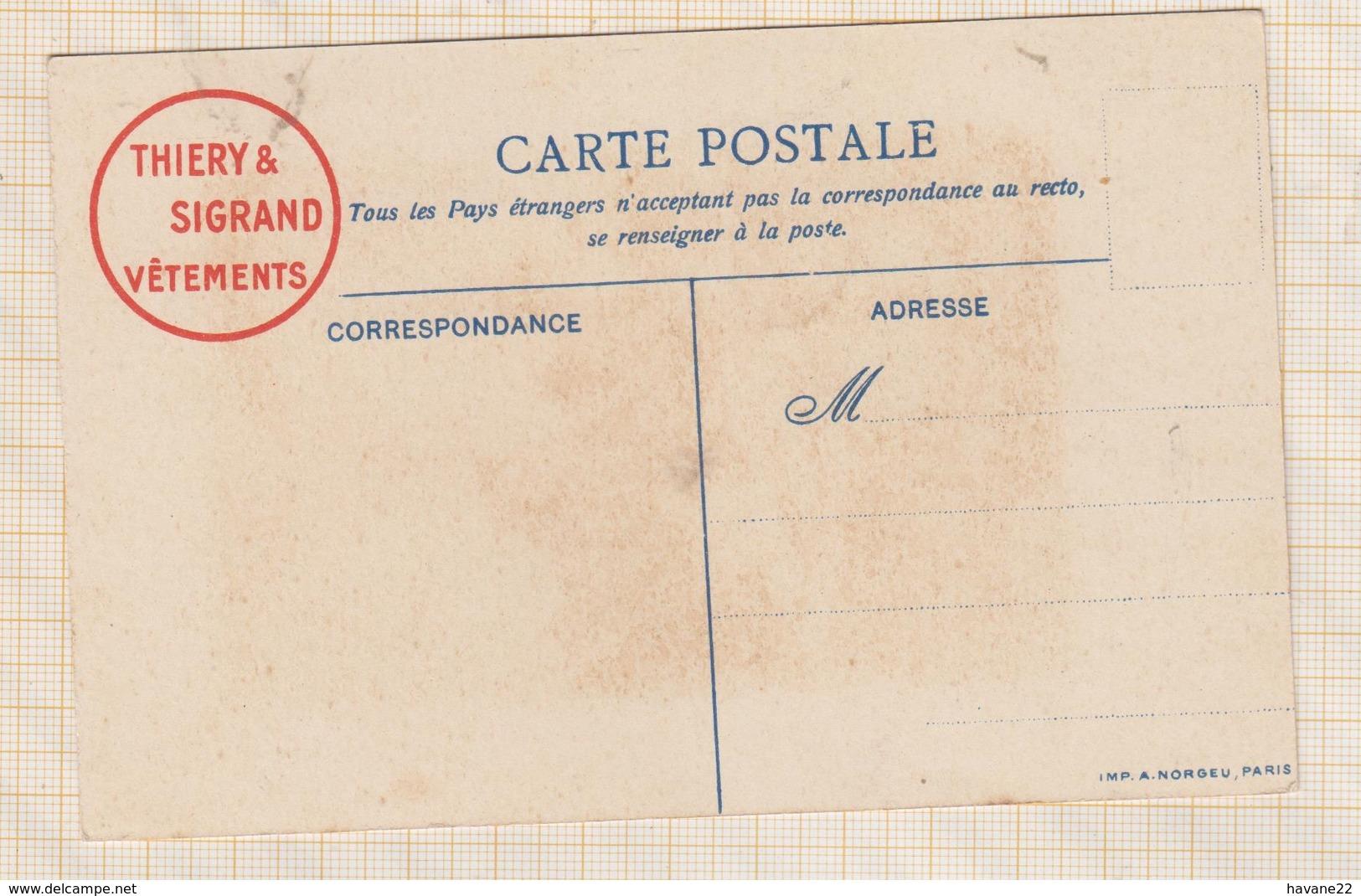9AL637 CHROMO THIERY &SIGRAND VETEMENTS METIERS Le Marche Aux Poissons  2 SCANS - Other