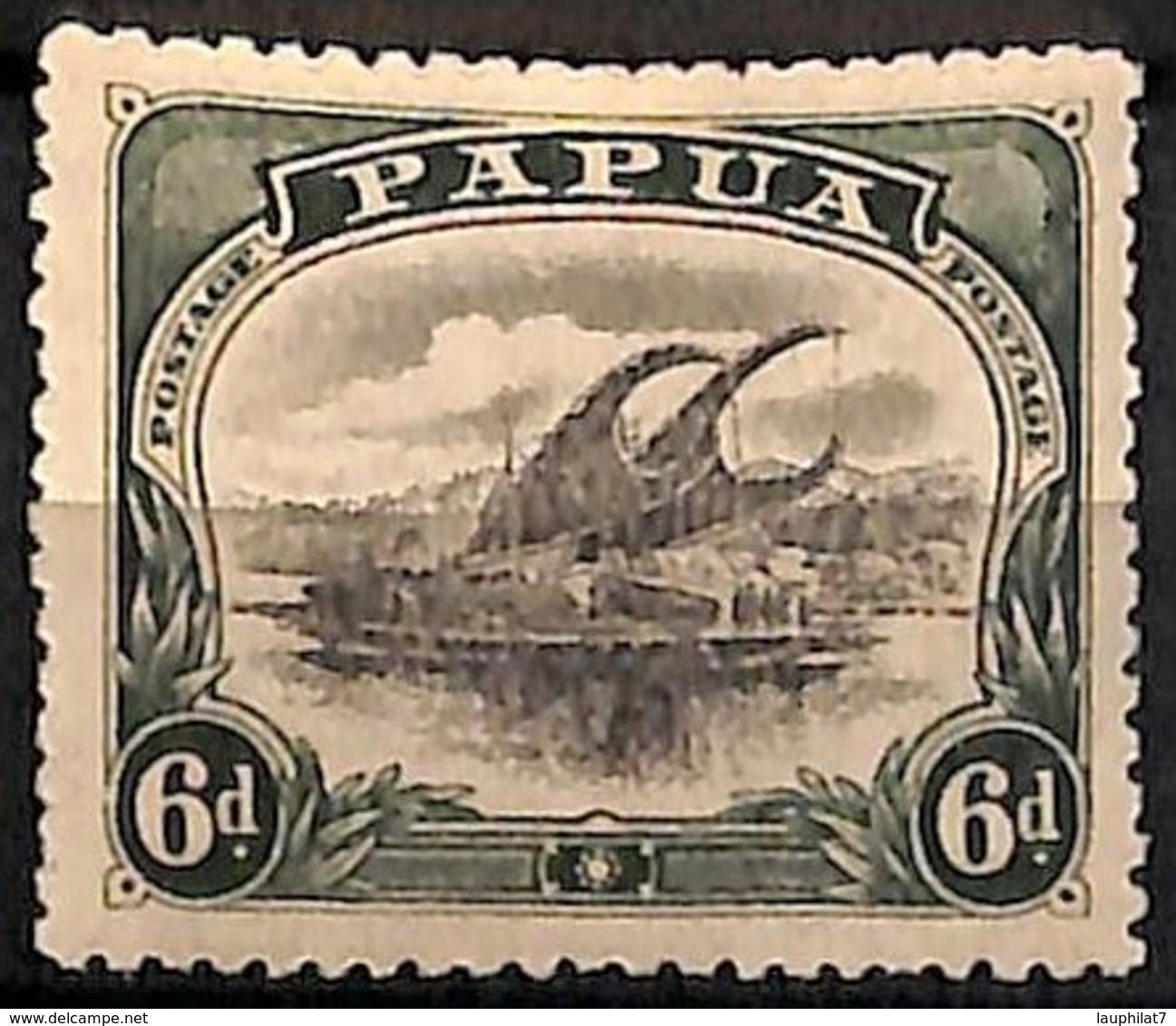 [829598]Papouasie 1910 - N° 45, 6p Vert Et Noir, Lakatoi Sur La Rivière Mambara, Bateau - Papouasie-Nouvelle-Guinée