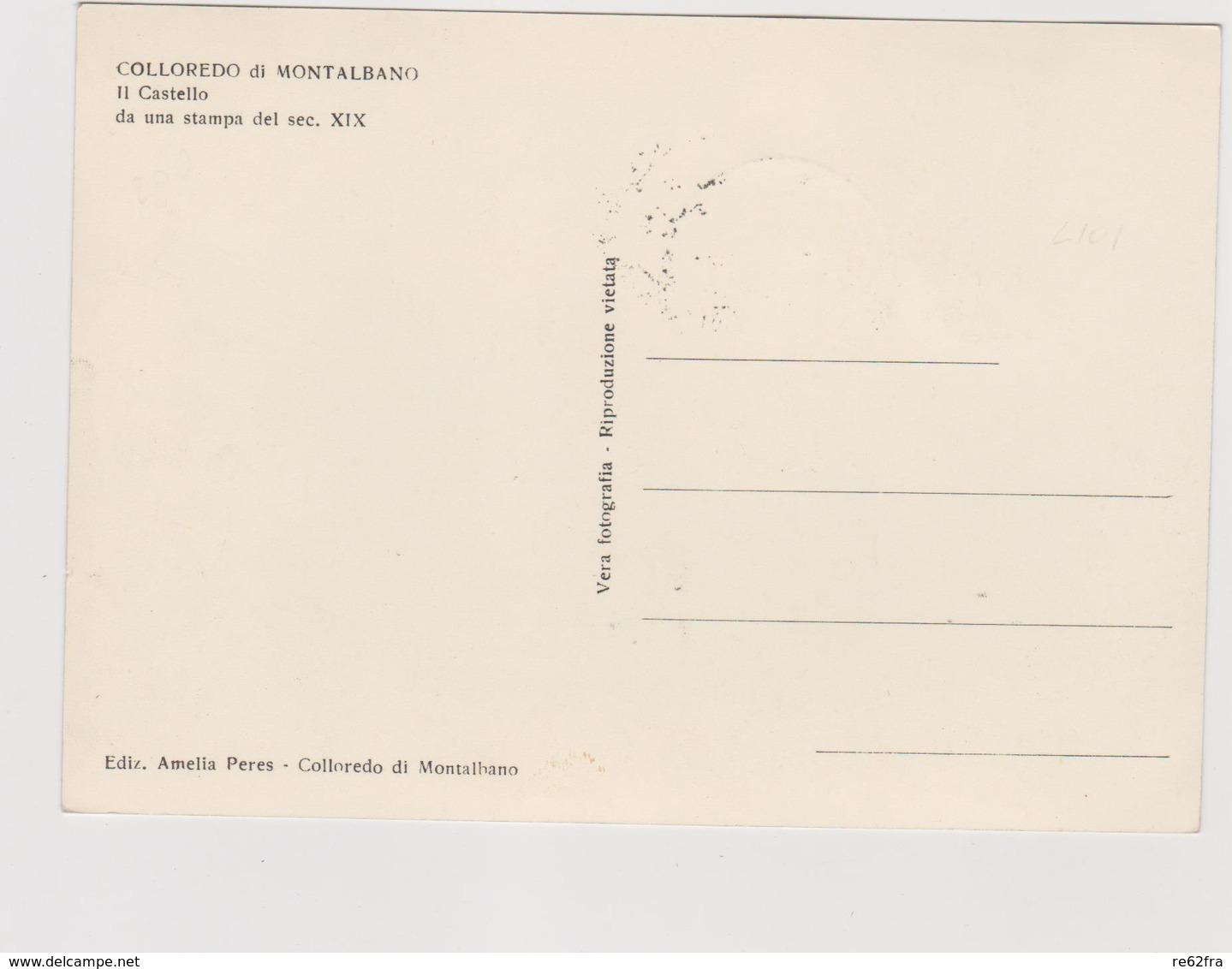 COLLOREDO Di MONTALBANO  (UD) - F.G.  - Anni  '1950 - Udine