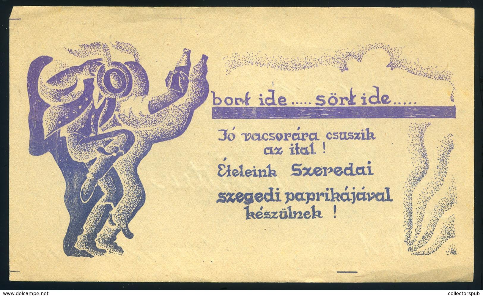 SZÁMOLÓ CÉDULA  Régi Reklám Grafika , Bort Ide, Sört Ide  /  Vintage Adv. Graphics BAR TAB, Give Me Beer - Vecchi Documenti