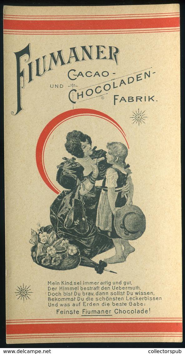 SZÁMOLÓ CÉDULA 1910-20. Cca. Régi Reklám Grafika , Fiumaner Cacao Chocoladen  /  Vintage Adv. Graphics BAR TAB Ca 1910-2 - Vecchi Documenti