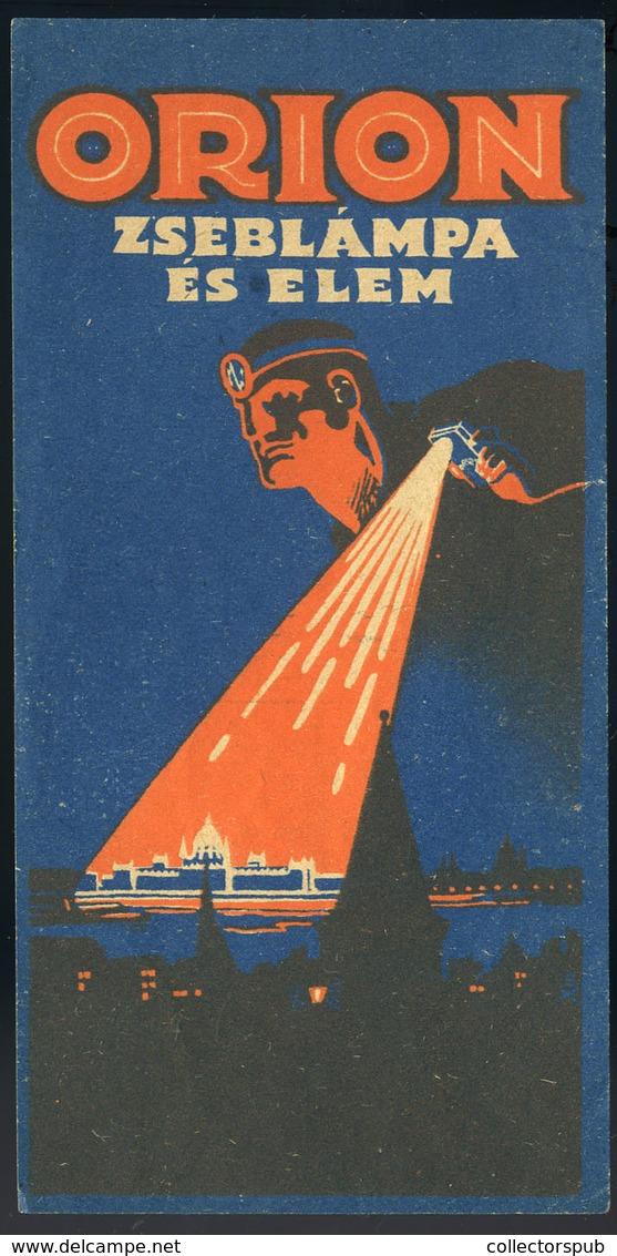 SZÁMOLÓ CÉDULA 1910-20. Cca. Orion  /  Vintage Adv. Graphics BAR TAB Ca 1910-20 - Vecchi Documenti