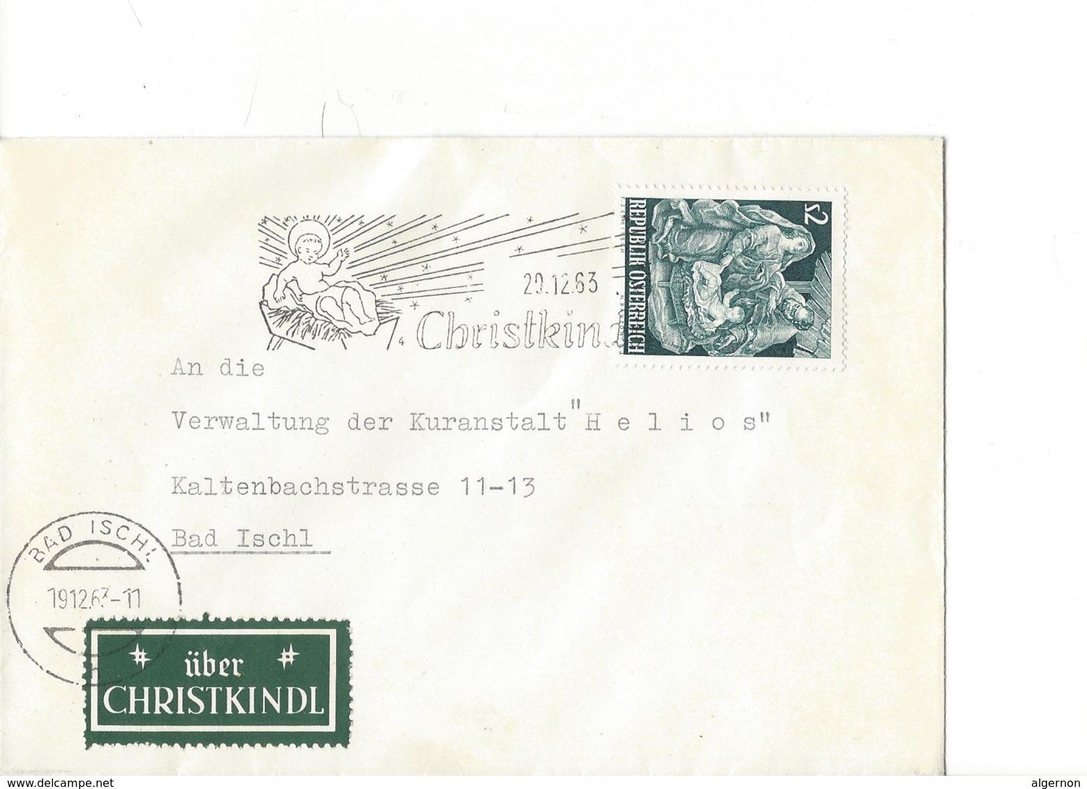 21555 - Christkindl 1963 Lettre  Pour Bad Ischl 20.12.1963 + Vignette über Christkindl - Noël