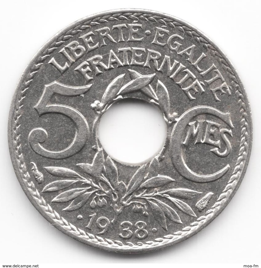 5 Centimes Lindauer Maillechort 1938 - France