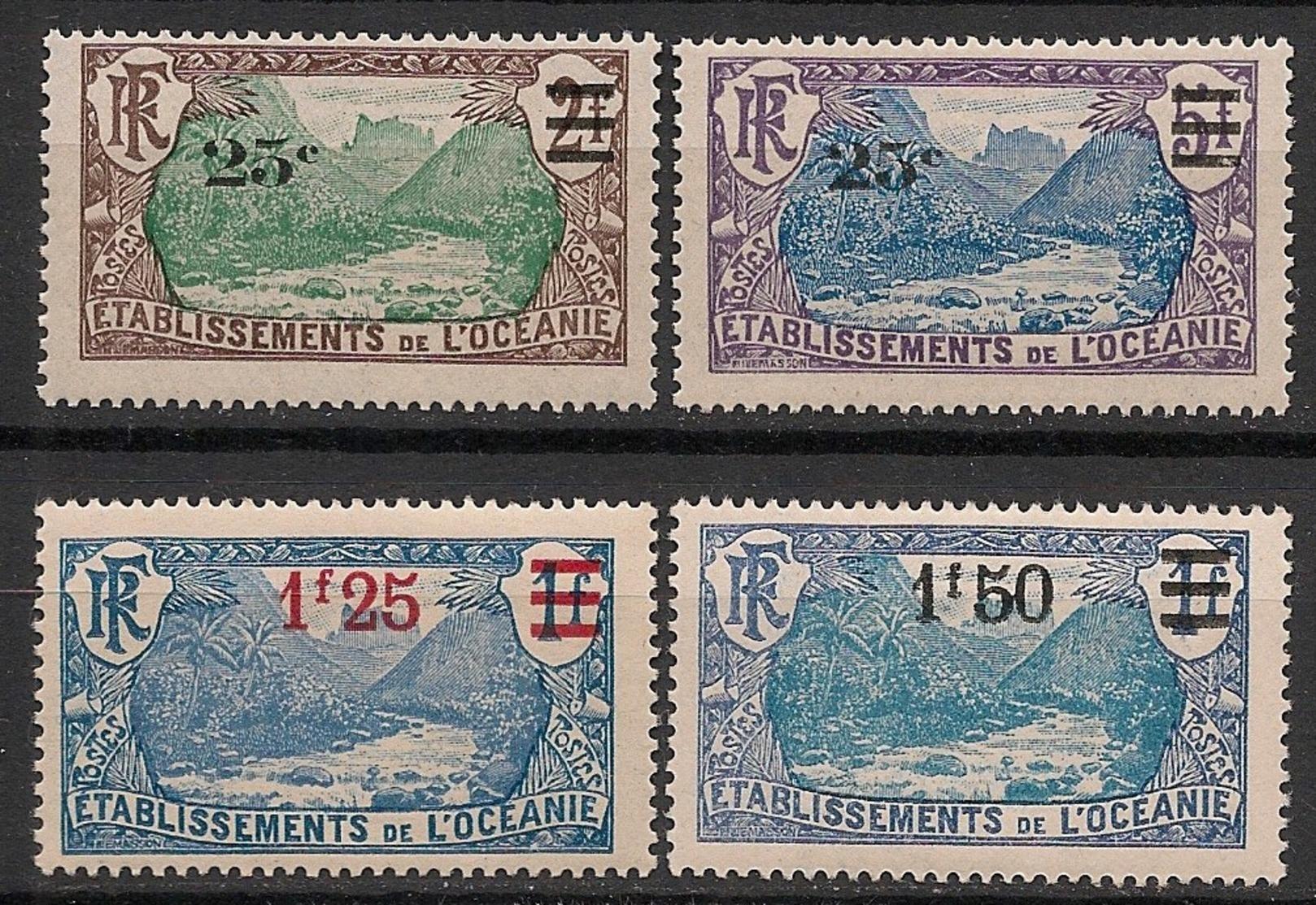 Océanie - 1924-27 - N°Yv. 61 à 64 - Série Complète - Neuf Luxe ** / MNH / Postfrisch - Nuevos