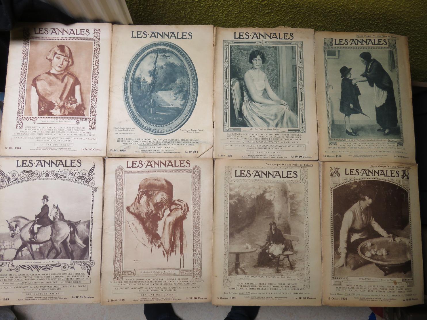 """RARE Et Beau Lot 36 Magazines """" Les Annales """" 1920 A 1928  - Avec Pièce De Théâtre - VOIR LES NOMBREUSES PHOTOS ! - Livres, BD, Revues"""