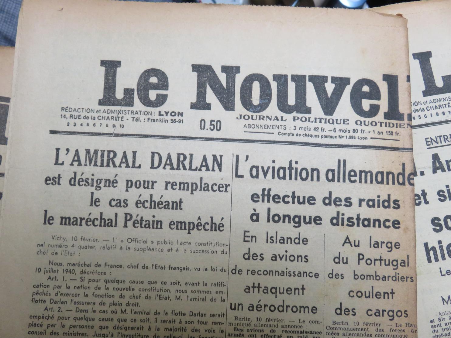 Rare Et Beau Lot De 32 Journaux 2 ème Guerre Mondiale Années 1941 1942 WW2 Ww1 - MISE A PRIX 1€ ! Pensez à Regrouper Vo - Autres
