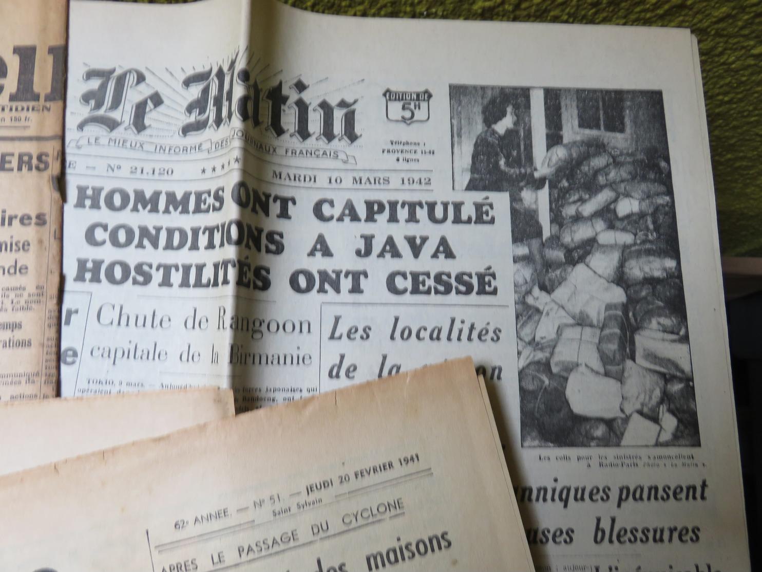 Rare Et Beau Lot De 32 Journaux 2 ème Guerre Mondiale Années 1941 1942 WW2 Ww1 - MISE A PRIX 1€ ! Pensez à Regrouper Vo - Journaux - Quotidiens