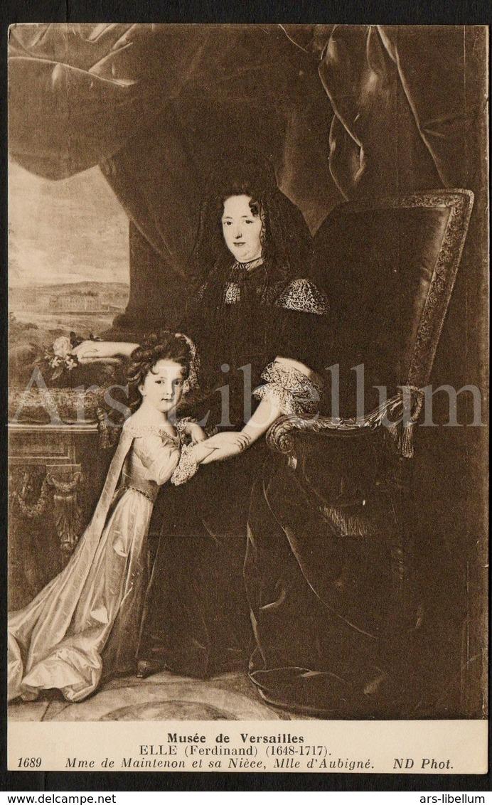 Postcard / CP / Postkaart / ROYALTY / France / Madame De Maintenon / Maîtresse / Roi Louis XIV / Mlle D'Aubigné - Femmes Célèbres