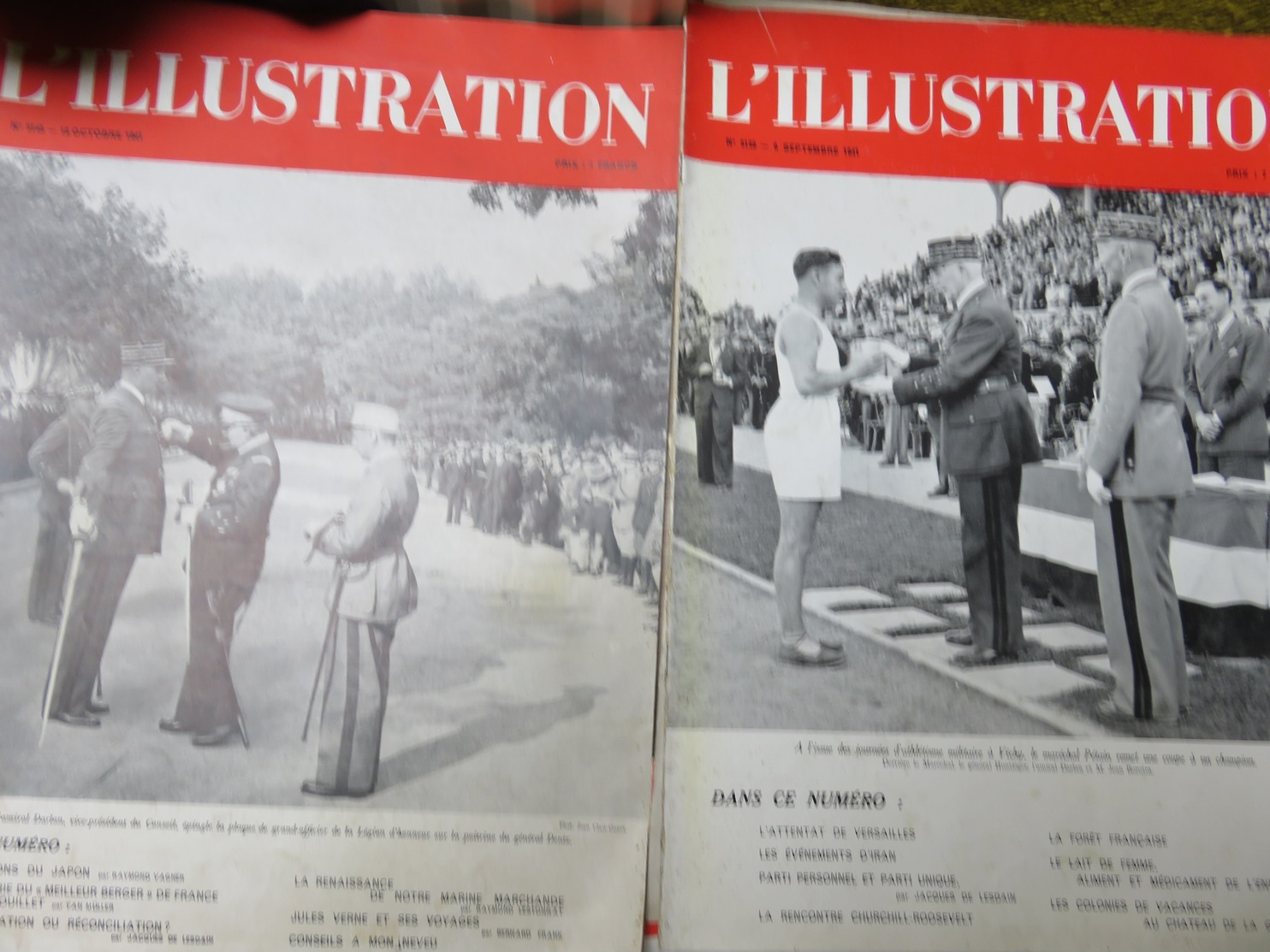 Lot De Grands Magazines L'ILLUSTRATION  X 12 / 1938 - 1939 - 1941 WW2 - Troupes Allemandes - Vive Pétain - Militaire - Journaux - Quotidiens