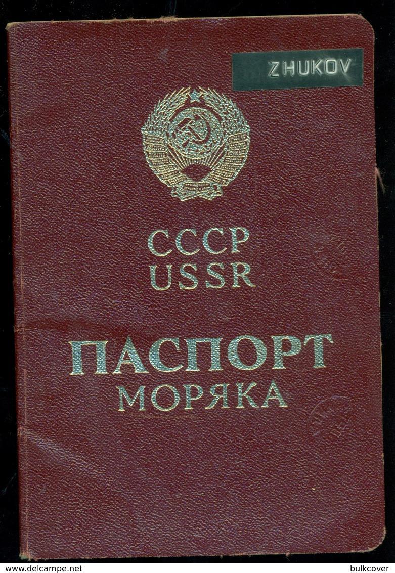 SOVIET SEAMAN'S EXTERNAL PASSPORT Of USSR CIVIL MARINE SEAMAN 1990 EXPIRED PASSEPORT PASS SEA SAILOR SHIP FOREIGN TRAVEL - Historical Documents