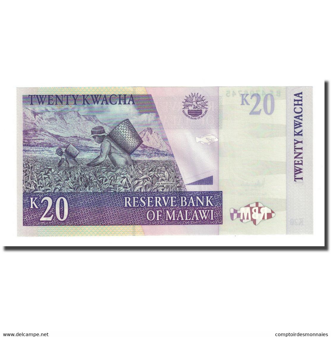 Billet, Malawi, 20 Kwacha, 2007-10-31, KM:52d, NEUF - Malawi