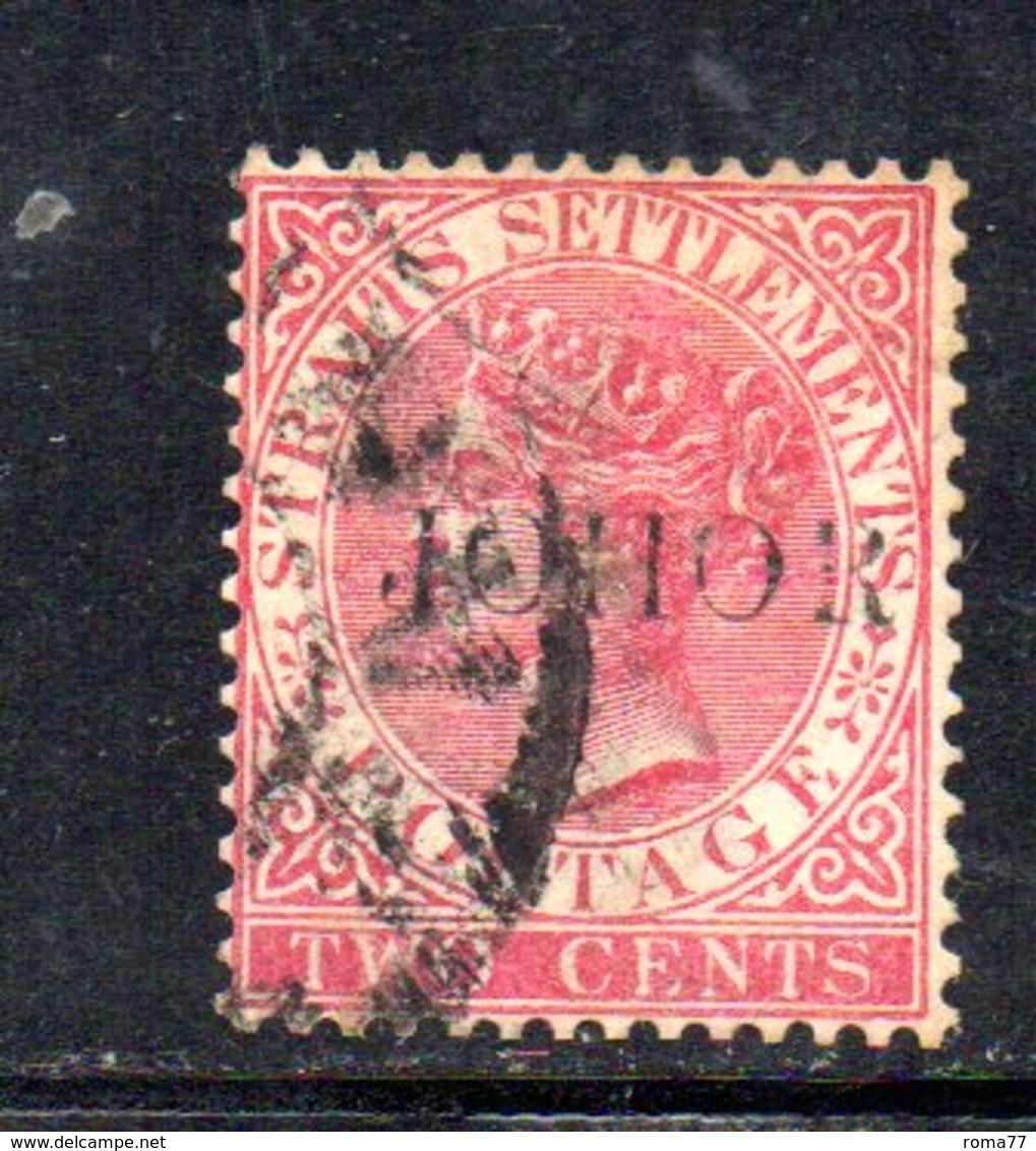 Y1200 - JOHORE MALACCA 1884 , Tre Valori  Usati Con Diversi Tipi Di Soprastampa . - Johore