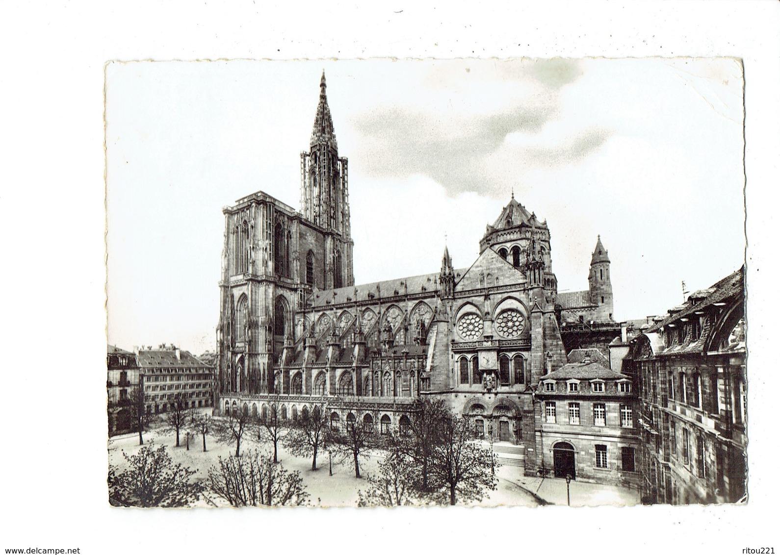 Cpm - 67 - Strasbourg - Cathédrale Travaux échafaudage échelle - Coté Sud - N°755 Edit X. Lechner - 1964 - Strasbourg