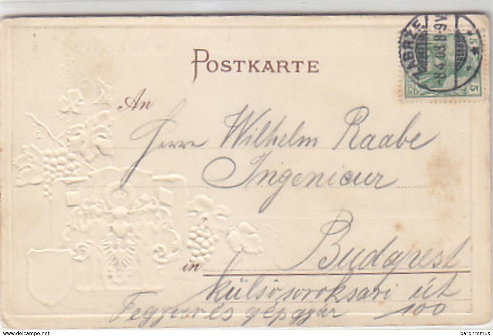 Gruss Aus Zabrze O.Schlesien - Königin Louise-Grube - M Wappen Im Relief - 1903     (190305) - Schlesien