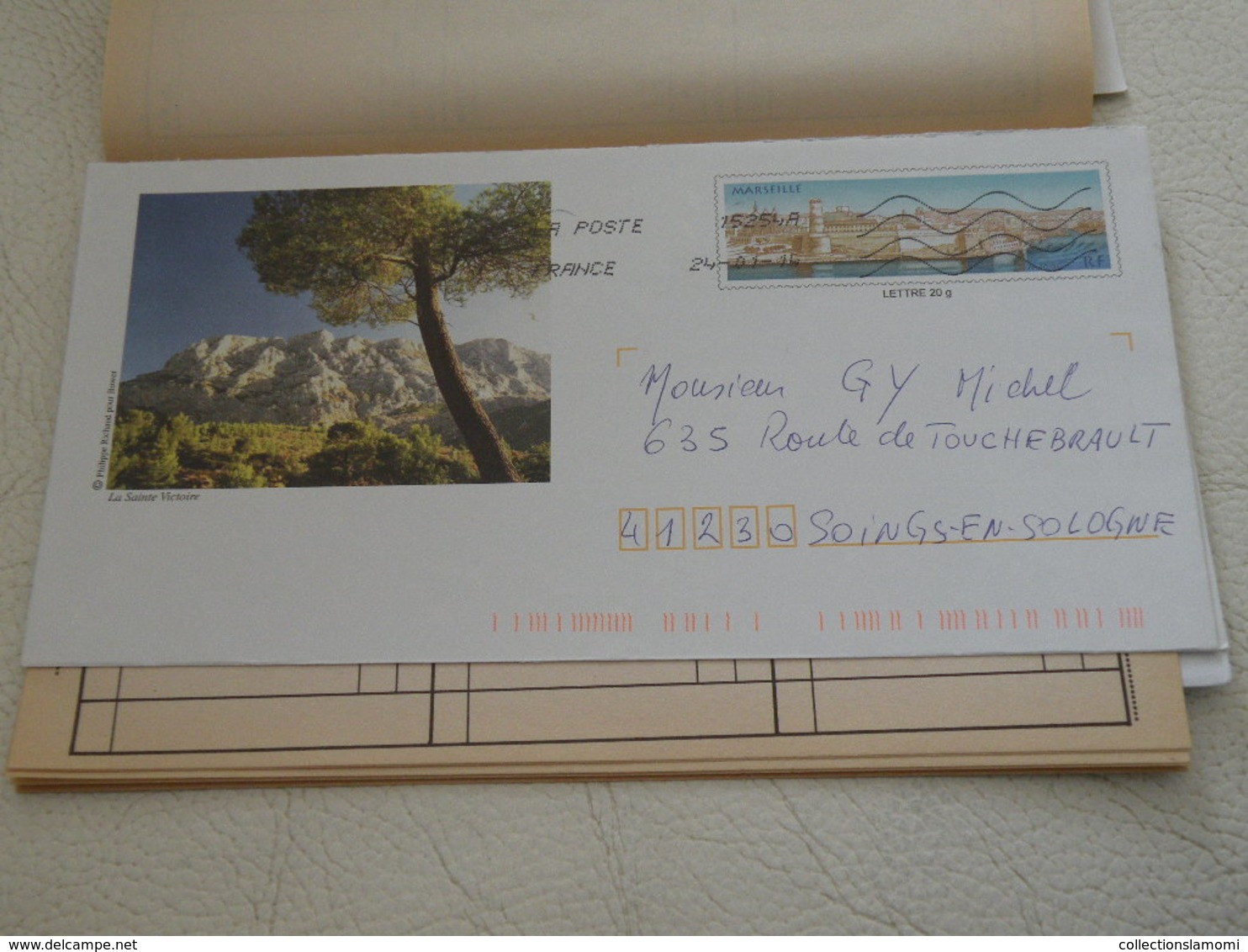 Carnet France Oblitérés Timbres + Enveloppes - Timbres