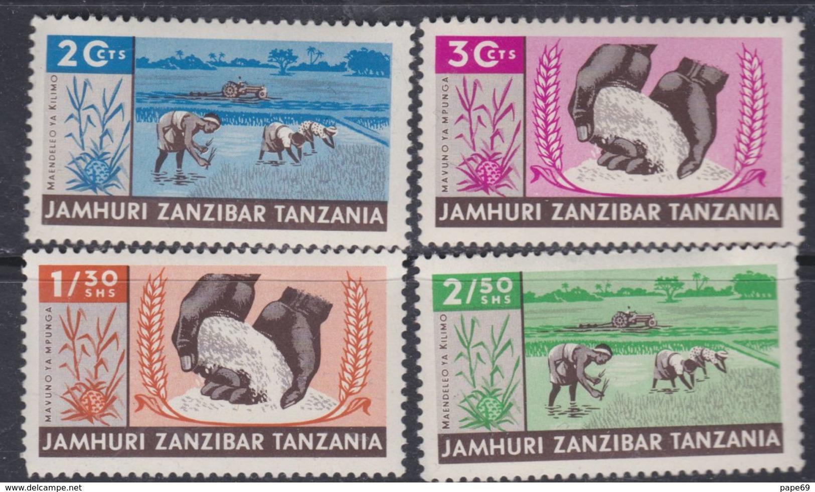 Zanzibar Etat Indépendant : N° 320 / 23 X  La Série Les 4 Valeurs Trace De Charnière Sinon TB - Zanzibar (1963-1968)