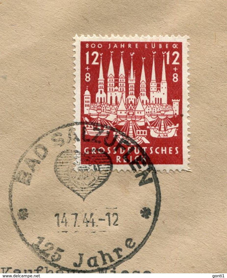 """German Empires 1944 Firmen Heimatbeleg/Cover BAD SALZUFLEN Mit Mi.Nr.862 U.SST""""Bad Salzuflen-125 Jahre ....""""1 Beleg - Alemania"""
